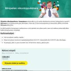 Kasinotarjouksia loppuviikolle 29/2021